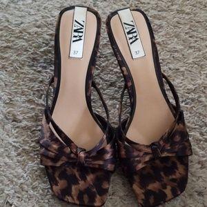 Zara sandals heels